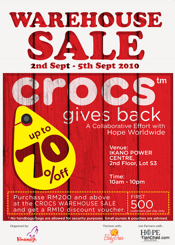a978d3397 Crocs Warehouse Sale - September 2010