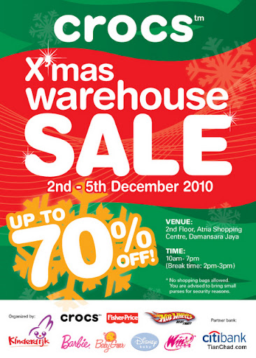 13b331f38 If you are planning to get Christmas present for your parents and friends.  Why not visit upcoming Crocs X mas Warehouse sale