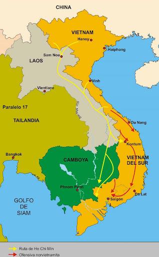 Guerra De Vietnam Mapa.La Guerra De Vietnam La Ruta De Ho Chi Minh Encyclopedia