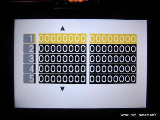 Leica Camera Information: Leica D-LUX 4 Service Mode
