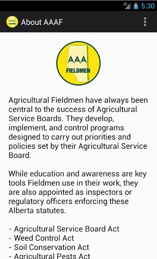 Alberta Agriculture Fieldmen
