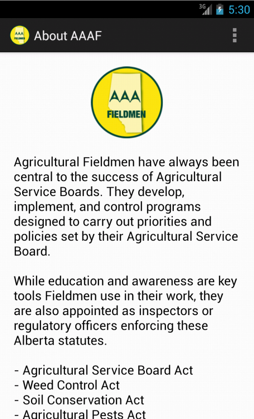 Alberta Agriculture Fieldmen- screenshot