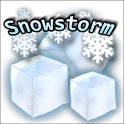Snowstorm weather widget icon