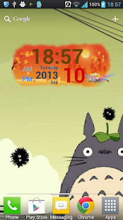 Autumn Digital Clock Widget - screenshot thumbnail