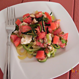 Fresh Tomatoes, Feta and Zoodles – #glutenfree