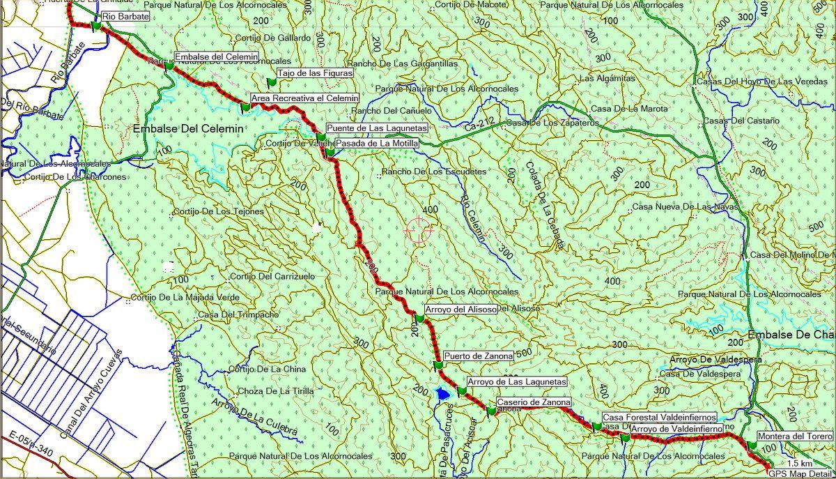 Tramo III Corredor Verde Dos Bahias (click sobre el mapa)