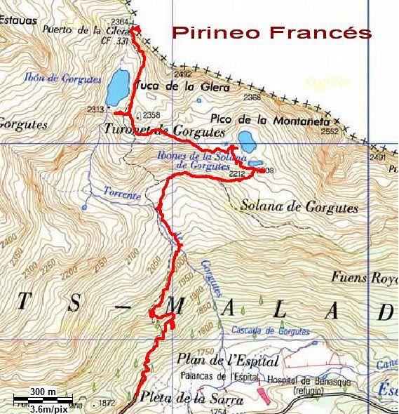 Ibón de Gorgutes y Puerto de la Glera