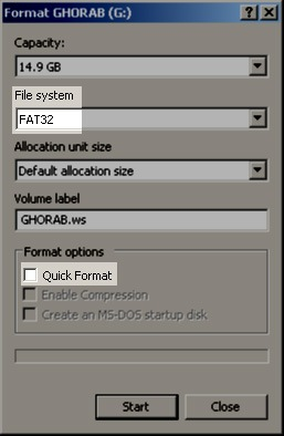 Fix and Format USB Memory Device