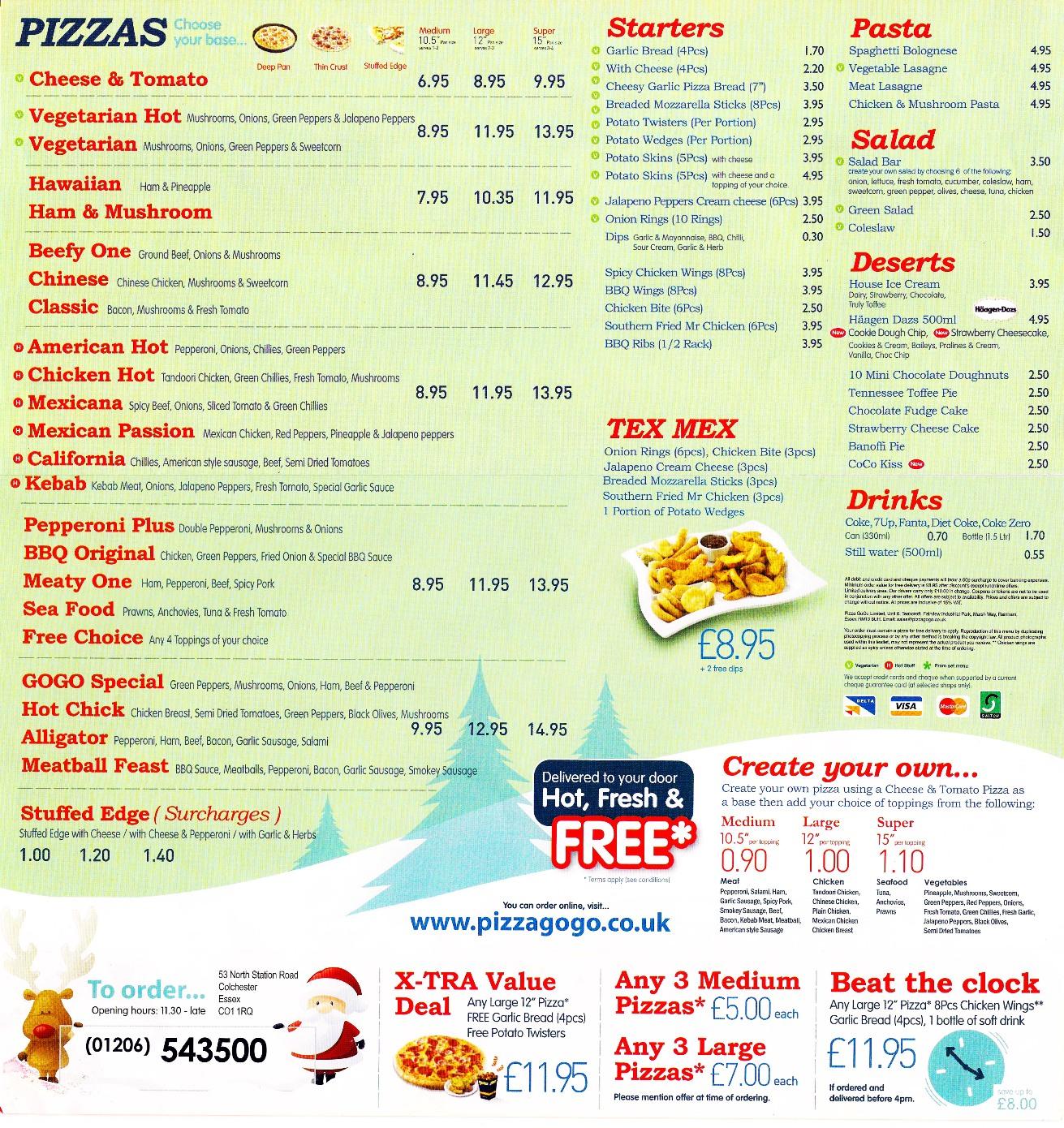 loonis pizza essex menu