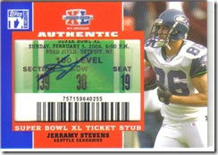 Jeremy Stevens Ticket & Auto