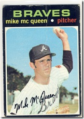 Topps 71 Mike Mc Queen
