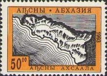 Nez Blog Abchazie Mapa Znak Vlajka