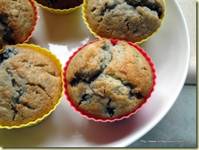 vintage savoir faire apple blackberry muffins