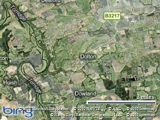 Halsdon is just west of Dolton Devon