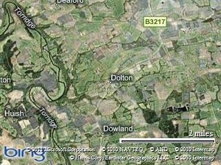 Halsdon is just west of Dolton Devon