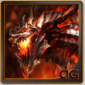 Magma Dragon Animated LWP