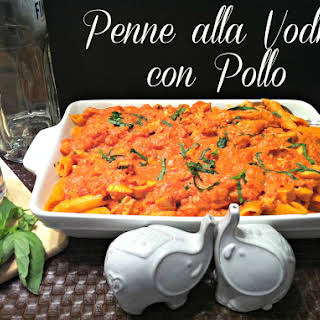 Penne alla Vodka con Pollo.