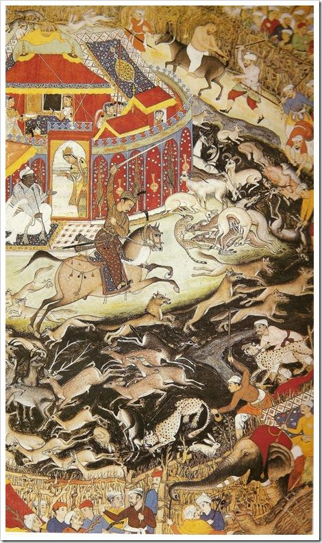Mogul Emperor Akbar and cheetah hunt