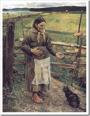 Old Woman With a Cat by Akseli Gallen-Kallela