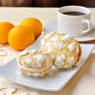 Lemon Cream Cheese Crackle Cookies.