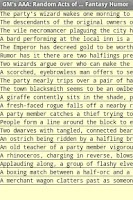 Screenshot of Random Acts ... Fantasy Humor
