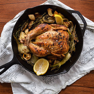 Spiced Skillet-Roasted Chicken with Parsnips and Fennel