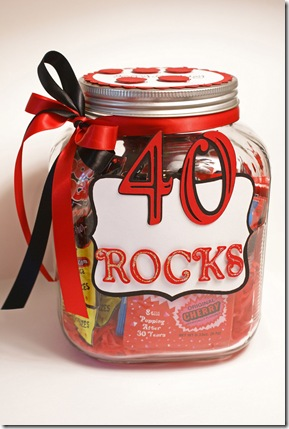 40 Rocks Happy Birthday Gift For Sister In Law