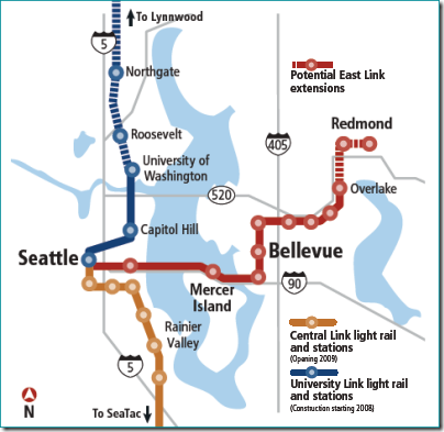 Link Rail Seattle Map.Map Seattle Light Rail Stations Bnhspine Com