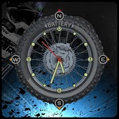 Compass Clock Battery Widget