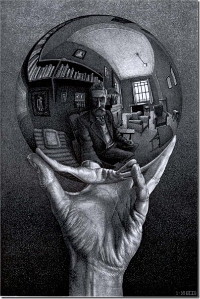 M. C. Escher - hand_with_reflecting_globe