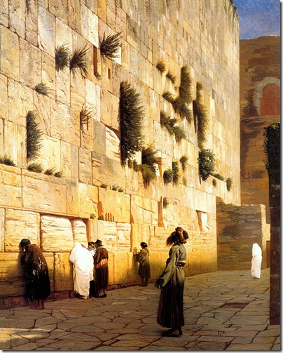 Solomon's Wall, Jerusalem oil on canvas 92 x 73 cm