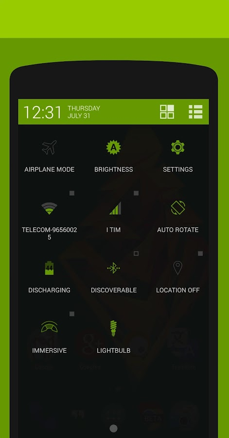 Objects #Green PA/CM11 Theme- screenshot