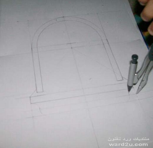 شرح رسمه جداريه بخطوات بسيطه