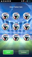 Screenshot of Football Pattern Screen Lock