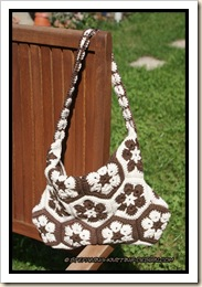 African flower bag - back