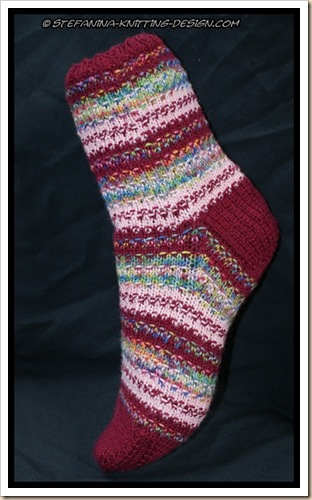Fruity biscotti sock finished