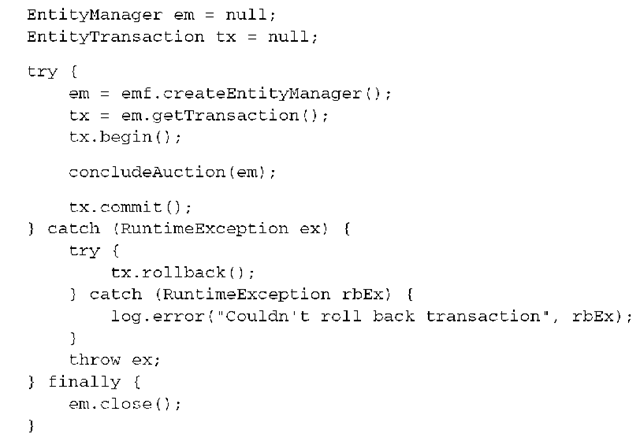 Transactions and concurrency (Hibernate)