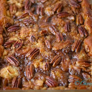 Baked Cinnamon Pecan French Toast.