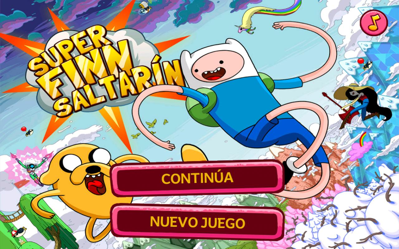 Hora de aventura Finn Saltarín - screenshot