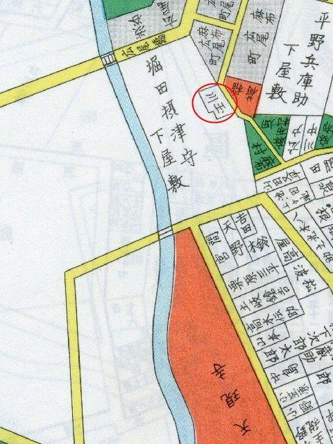 謎の「玉川」地図