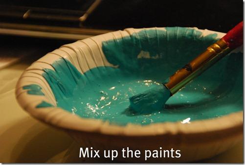 mix up the paints