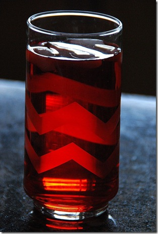one chevron glass