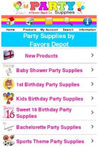 Party Supplies Shop screenshot 0