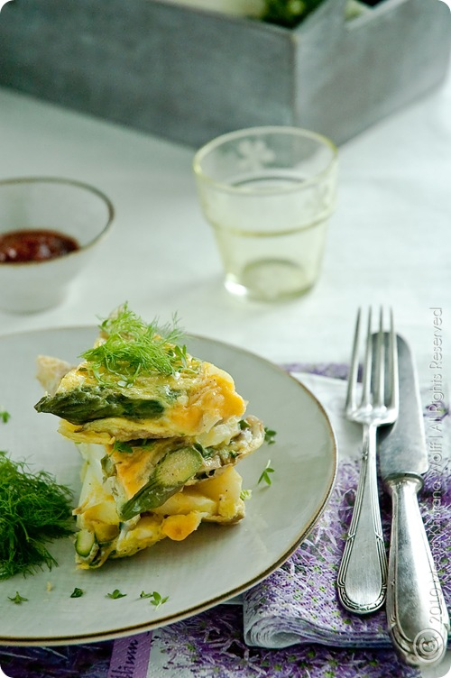 Asparagus Fennel Tortilla (0023) by MeetaK