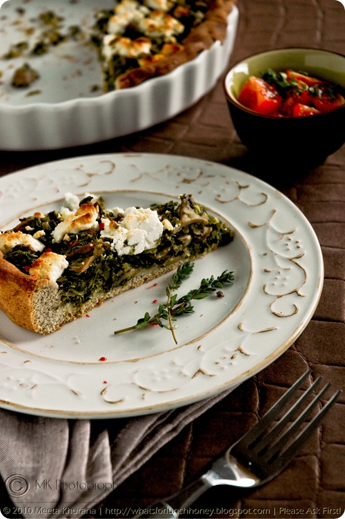 Kale Mushroom and Goat Cheese Buckwheat Tart (03) by MeetaK