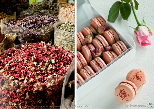 Rosewater and Raspberry Macarons Diptych (01) by MeetaK
