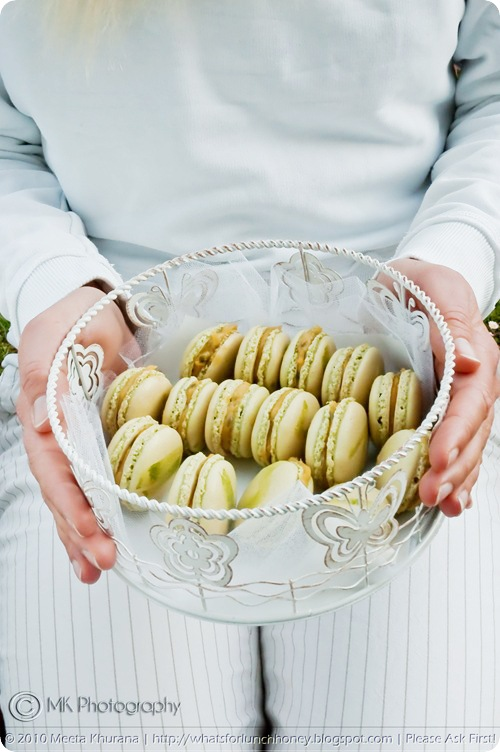 Matcha Macarons with Passionfruit Curd (0003) by MeetaK