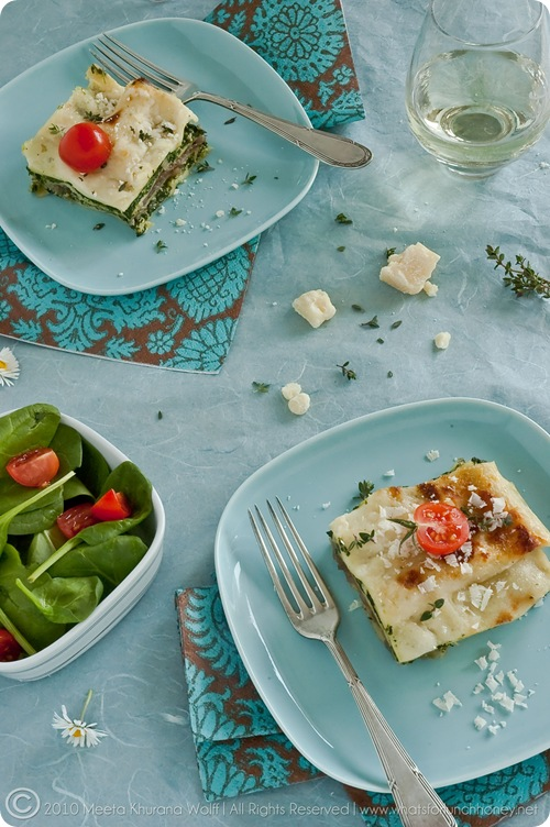 Spinach Caramelised Onion Lasagna (0010) by MeetaJ