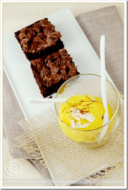 Flourless Choc Cake Saffron Coco IceCream (02) by MeetaK