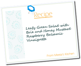 Meeta Recipe Cardgreen salad